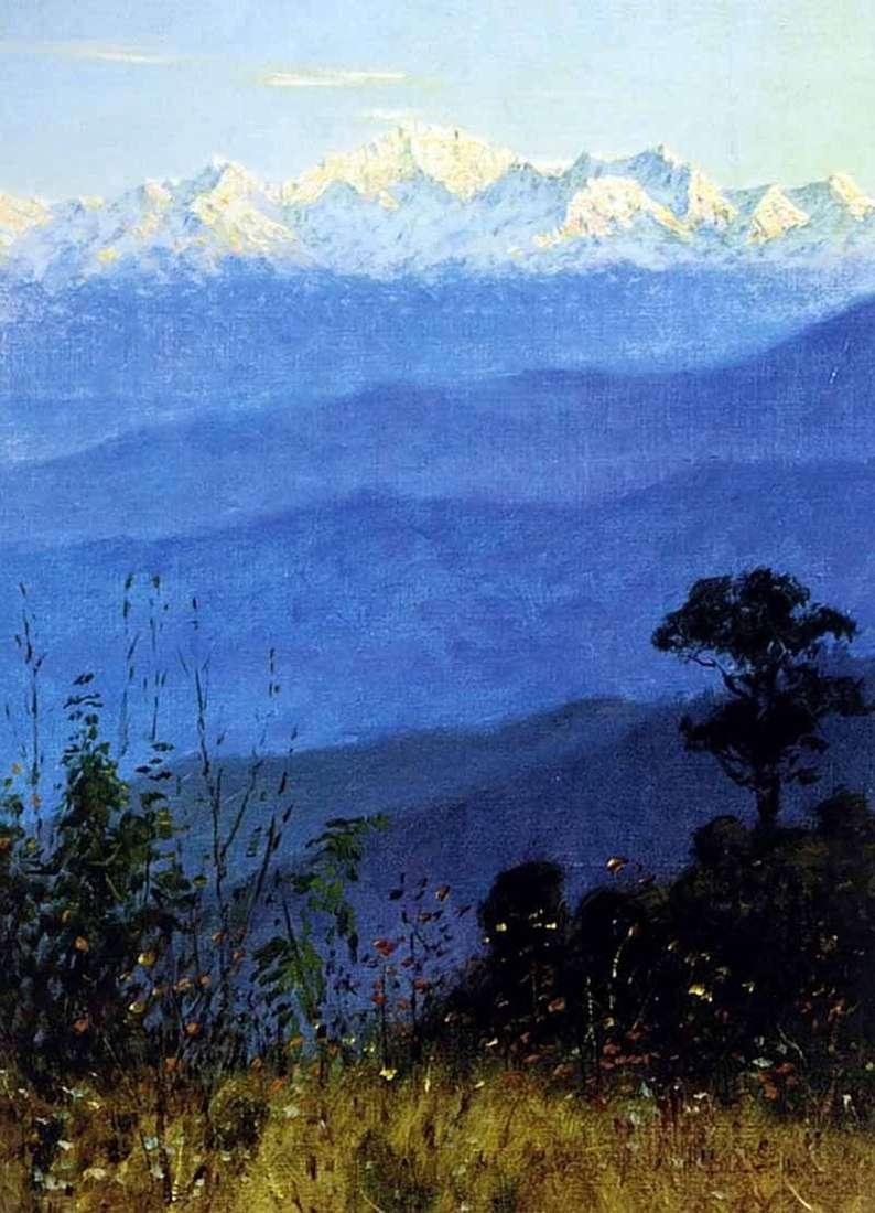 Himalaje wieczorem   Wasilij Werechagin