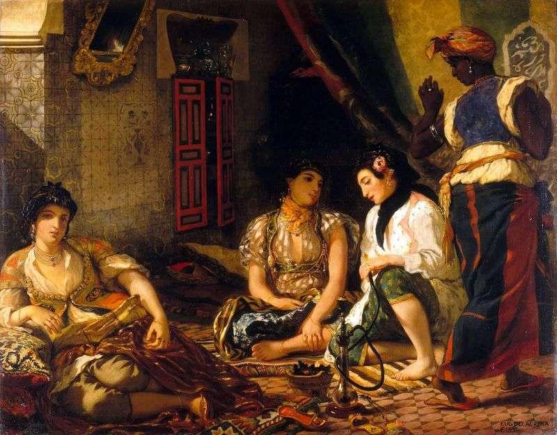 Algierki w swoich komnatach   Eugene Delacroix