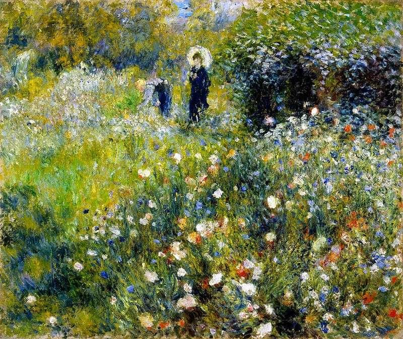 Kobieta z parasolem w ogrodzie   Pierre Auguste Renoir