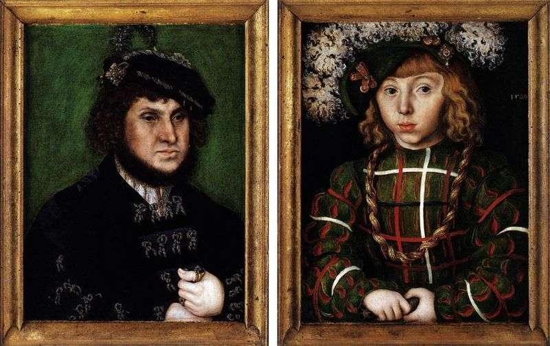 Podwójny portret Johanna Tverdyego i jego syna Johanna Friedricha   Lukasa Cranacha