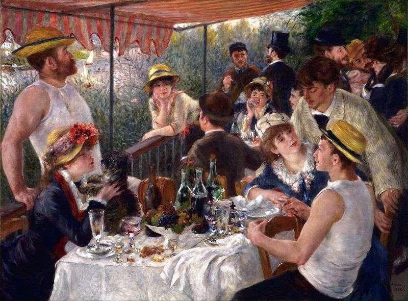 Śniadanie Rowers   Pierre Auguste Renoir