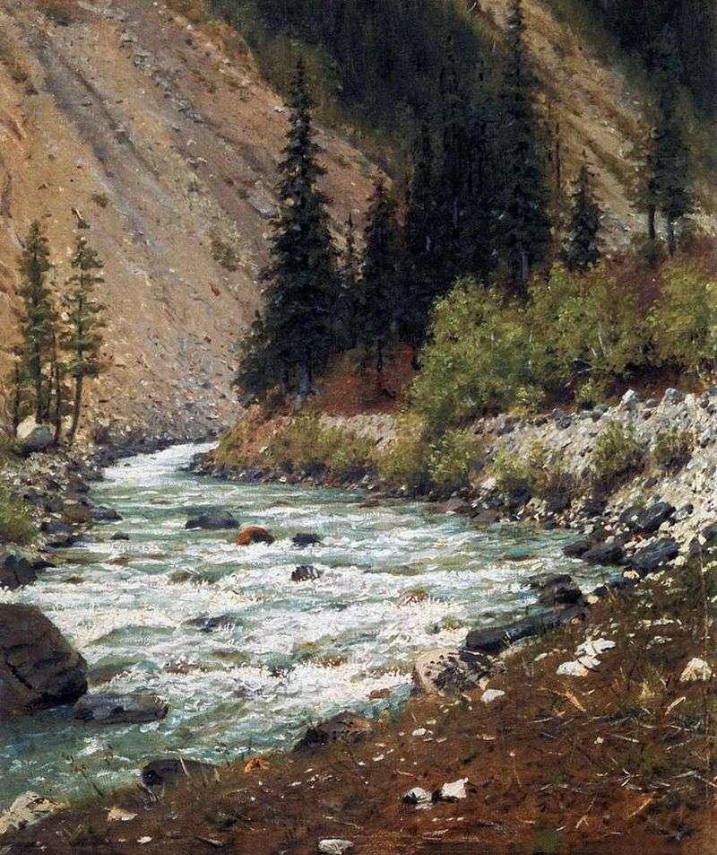 Górski potok w Kaszmirze   Wasilij Werechagin
