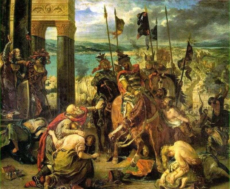 Krzyżowcy chwytają Konstantynopol   Eugene Delacroix