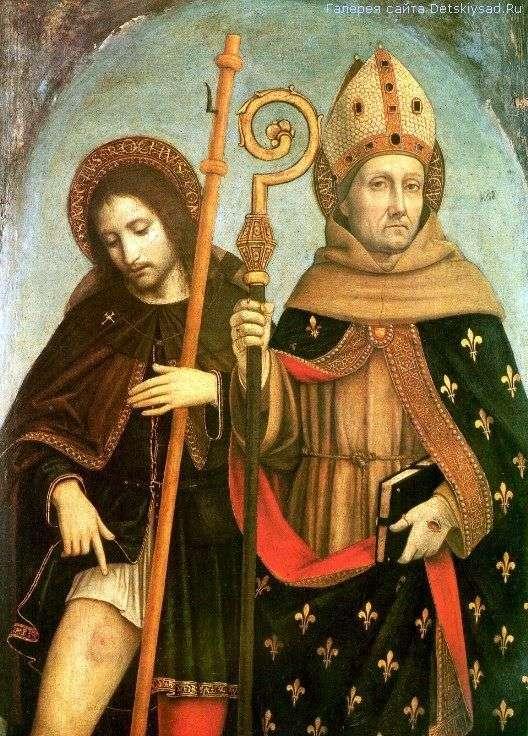 Saint Roch i Saint Louis w Tuluzie   Ambrogio Borgognone