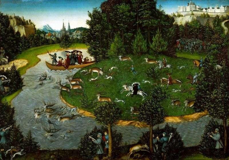Kurfyust Friedrich the Wise on the Hunt   Lukas Cranach