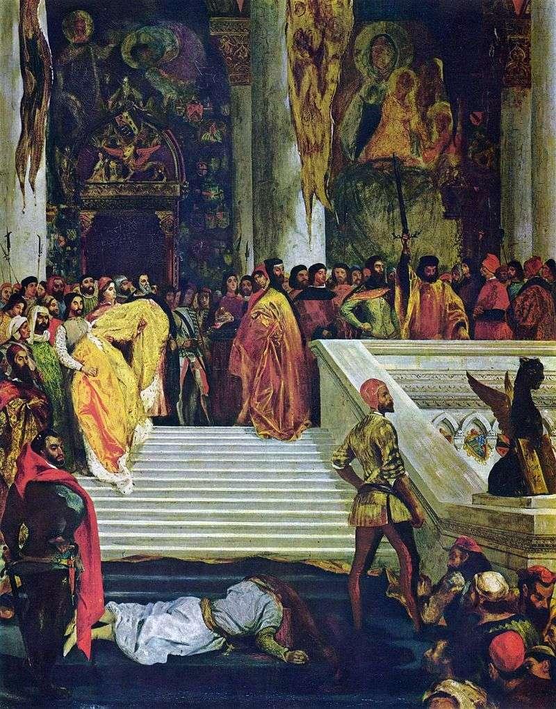 Wykonanie doży Marina Faliero   Eugene Delacroix