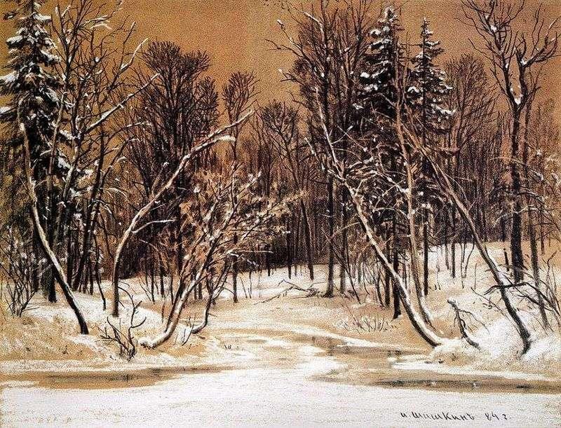 Las w zimie   Iwan Szyszkin
