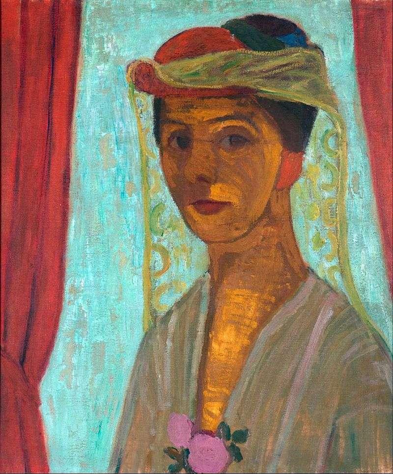 Autoportret w kapeluszu z welonem   Paula Modersohn Becker