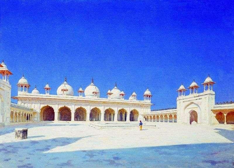 Moti Masjid (Meczet Perełkowy) w Agrze   Wasilij Werechagin