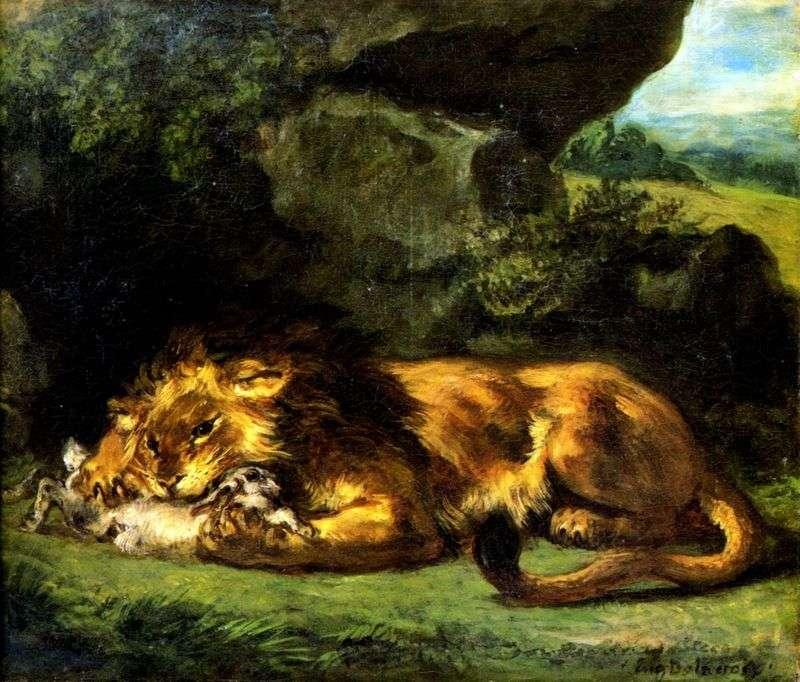 Królik Lew   Eugene Delacroix