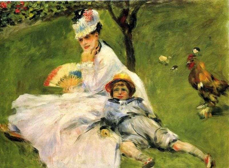 Madame Monet w ogrodzie   Pierre Auguste Renoir