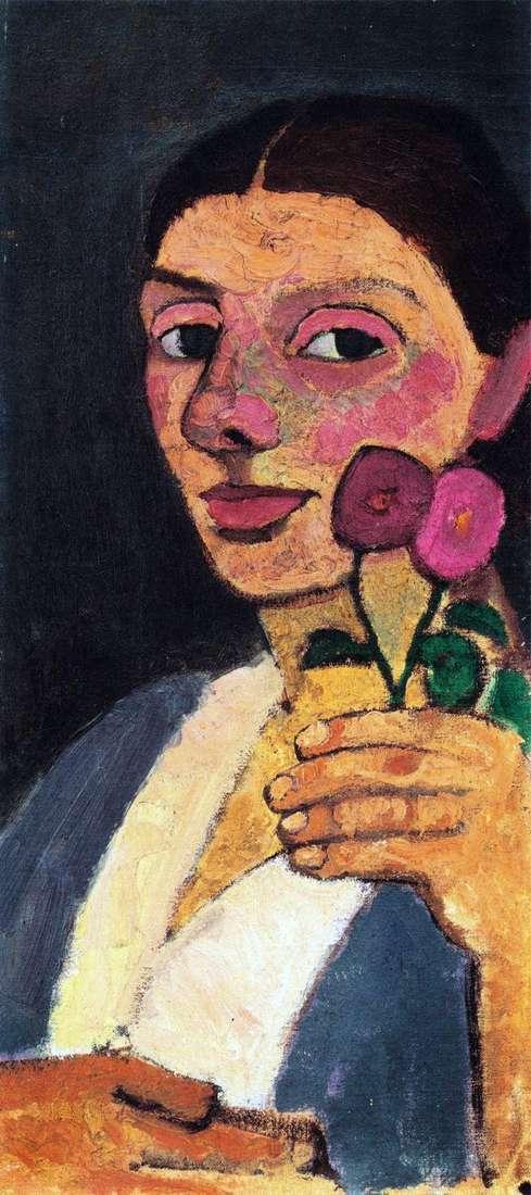 Autoportret z dwoma kolorami   Paula Modersohn Becker