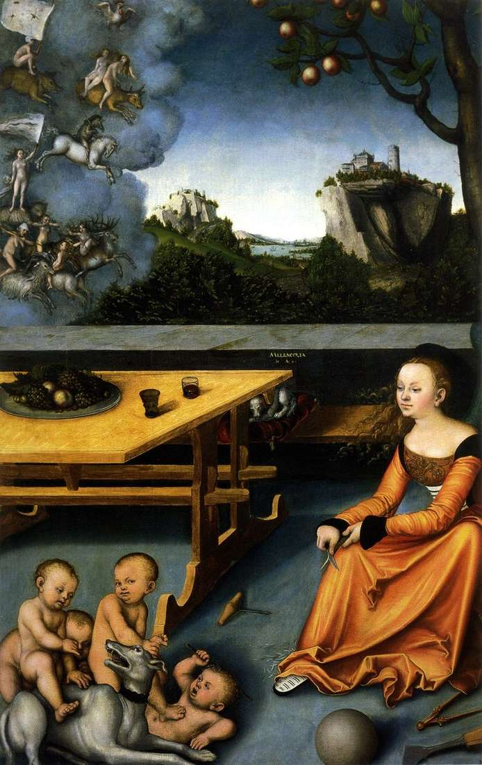Alegoria melancholii   Lukas Cranach