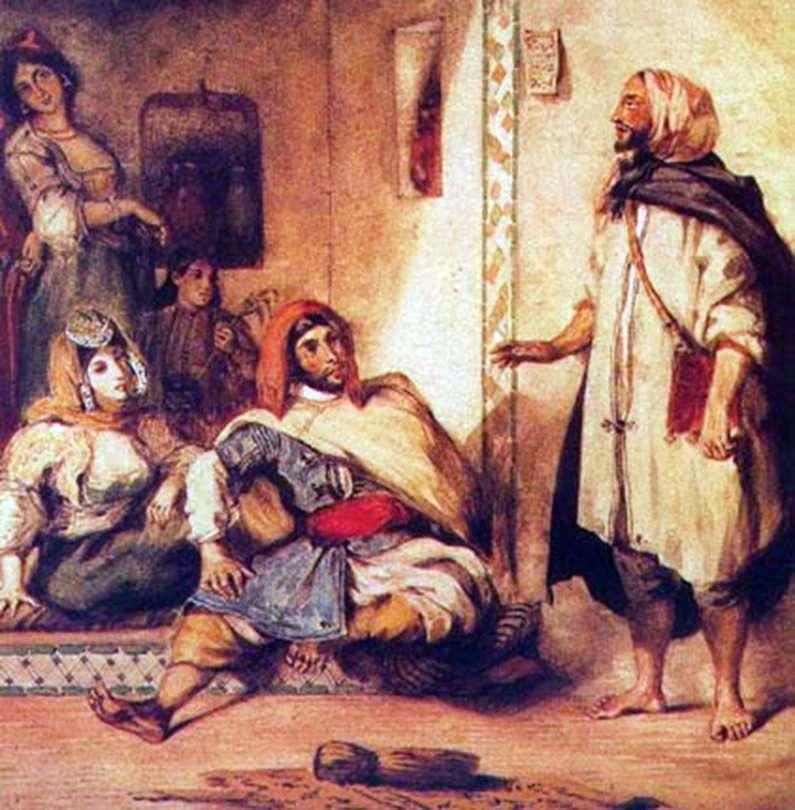 Rodzina marokańska   Eugene Delacroix
