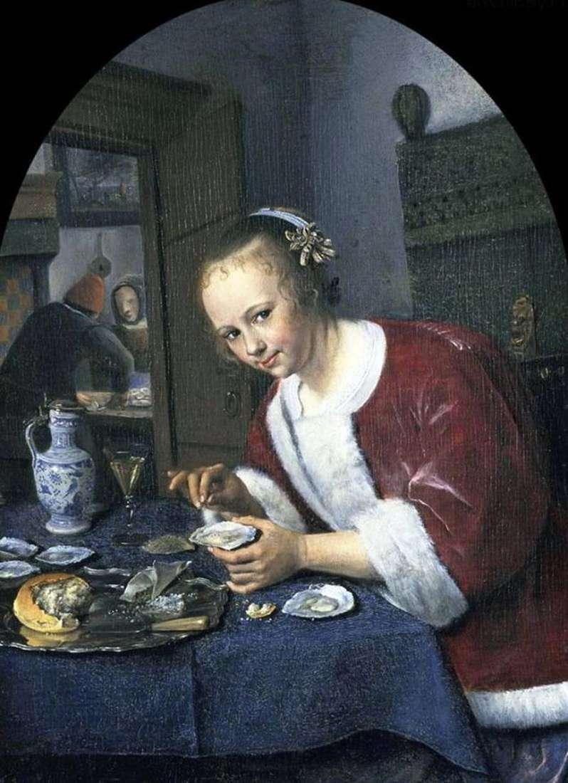 Dziewczyna z ostrygami   Jan Steen