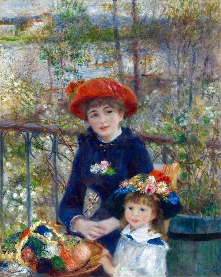 Na tarasie (dwie siostry)   Pierre Auguste Renoir