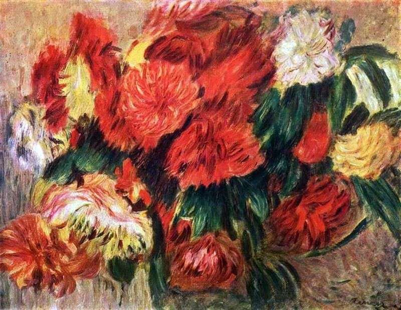 Martwa natura z chryzantemami   Pierre Auguste Renoir