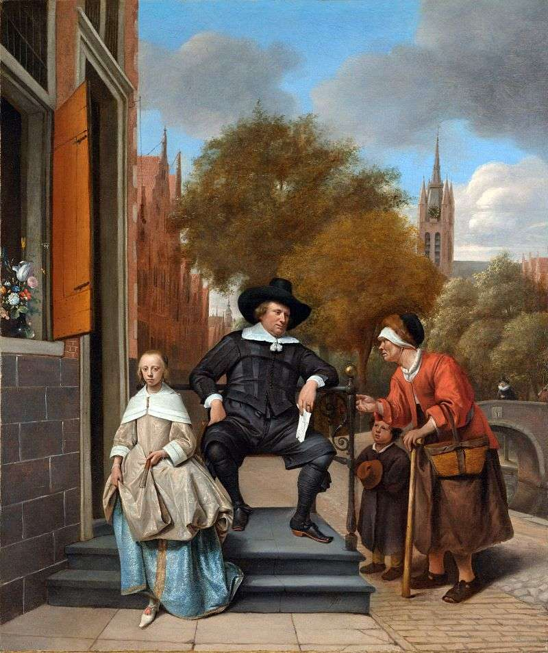 Mieszkańcy Delft   Jan Steen