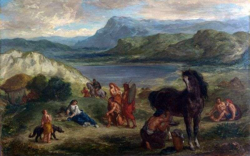 Owidiusz wśród Scytów   Eugene Delacroix