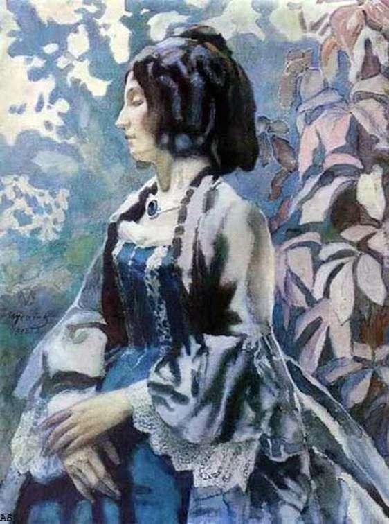 Lady in Blue   Victor Borisov Musatov