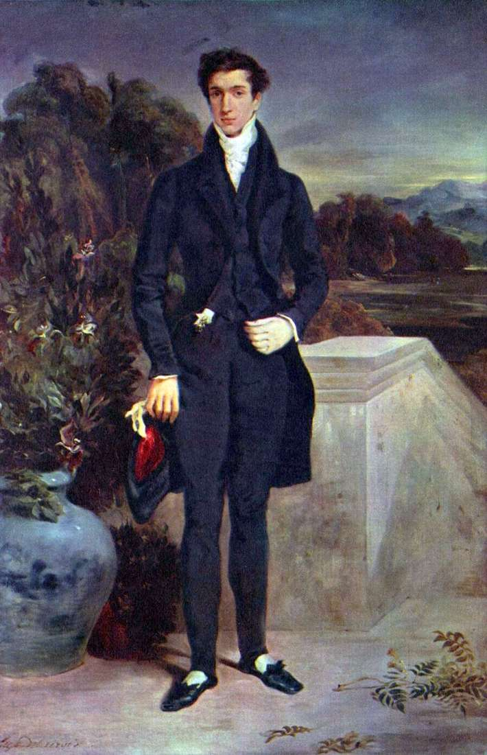Portret barona Schwytera   Eugene Delacroix