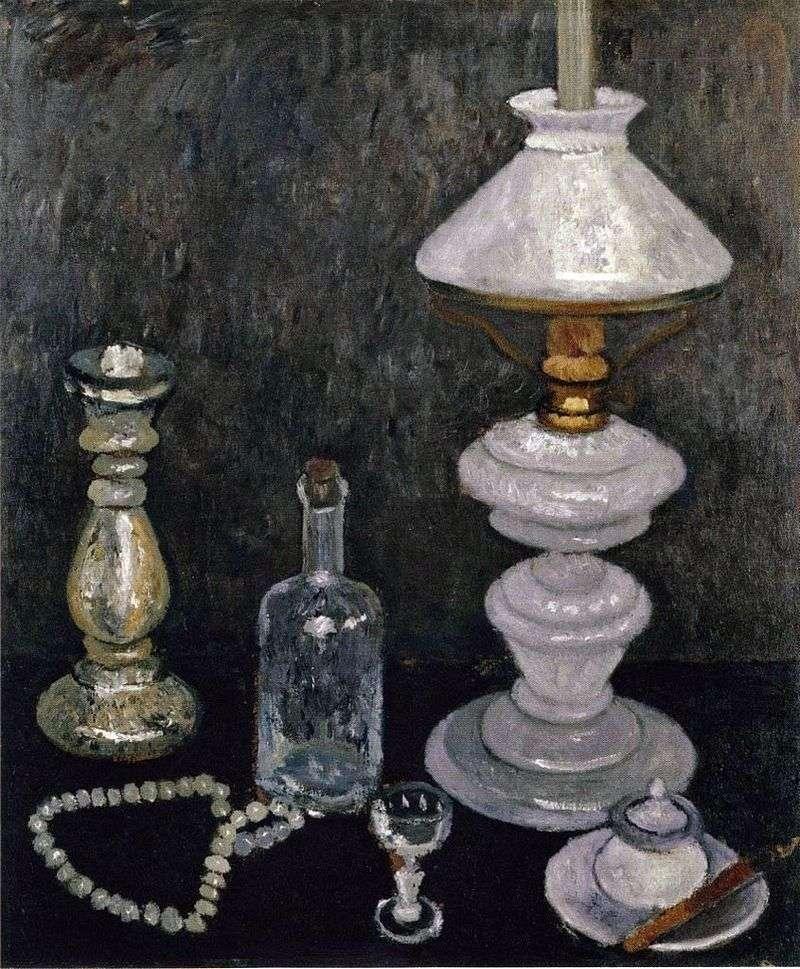 Martwa natura z białą lampą   Paula Moderzon Becker