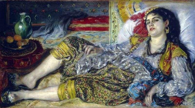 Odaliska (kobieta z Algierii)   Pierre Auguste Renoir