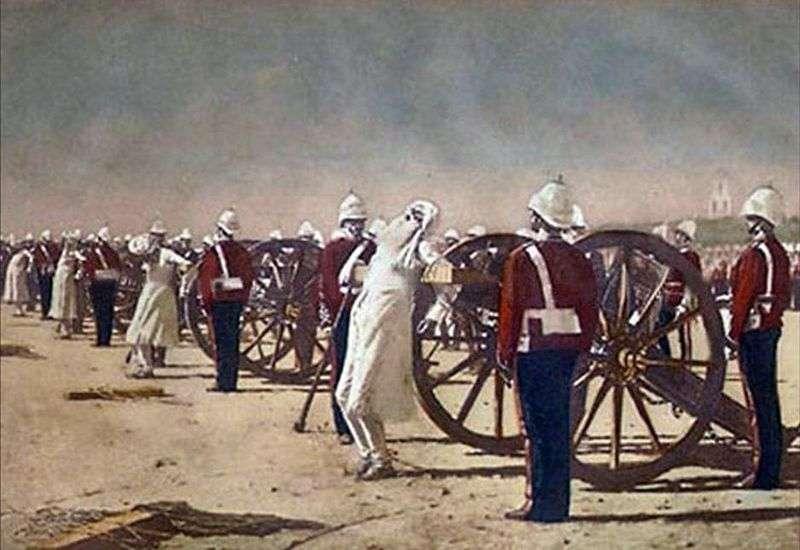 Stłumienie powstania Indii przez Brytyjczyków   Wasilija Werechagina