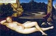 Odpoczynek Nimfa   Lucas Cranach