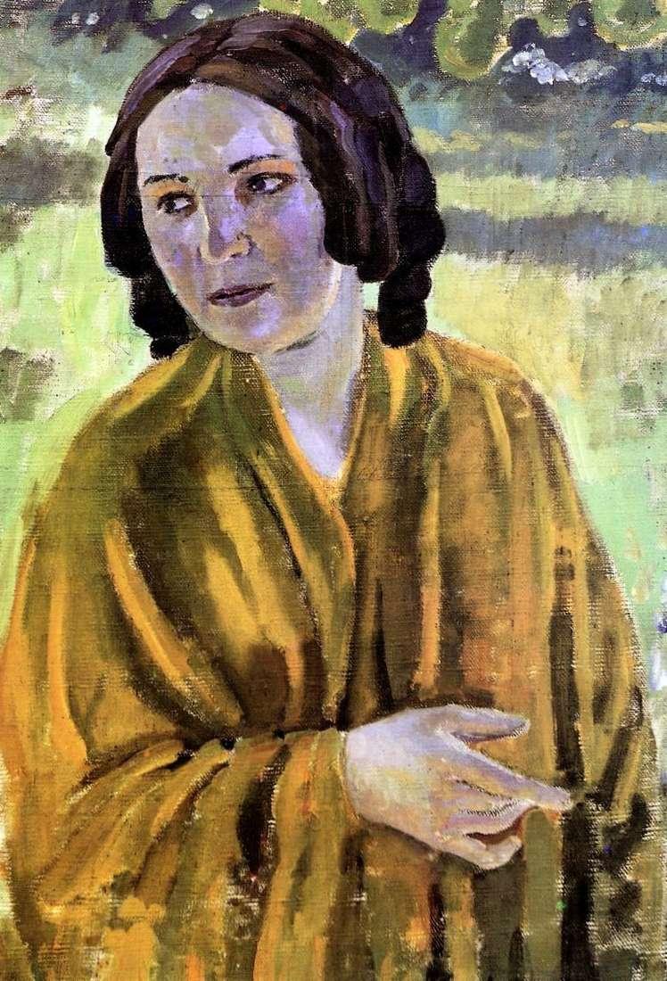 Dziewczyna w żółtym szalu   Victor Borisov Musatov