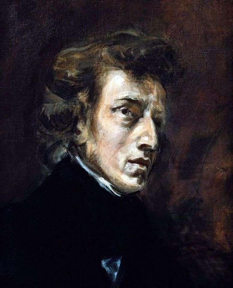 Portret Fryderyka Chopina   Eugene Delacroix