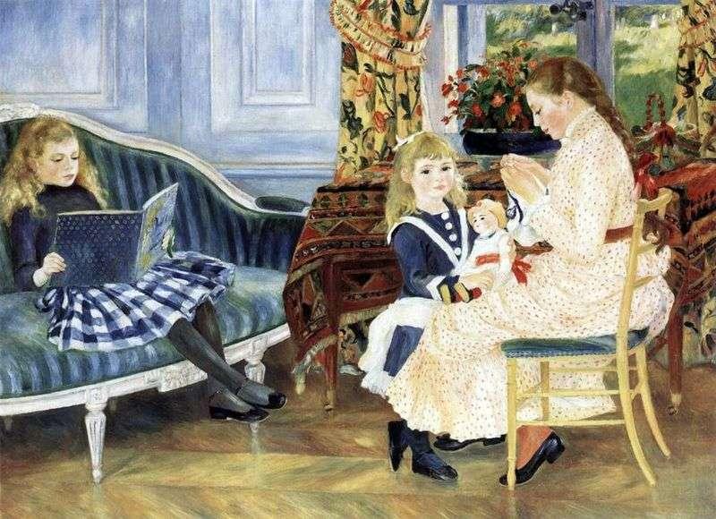 Południe dzieci w Vargemont   Pierre Auguste Renoir
