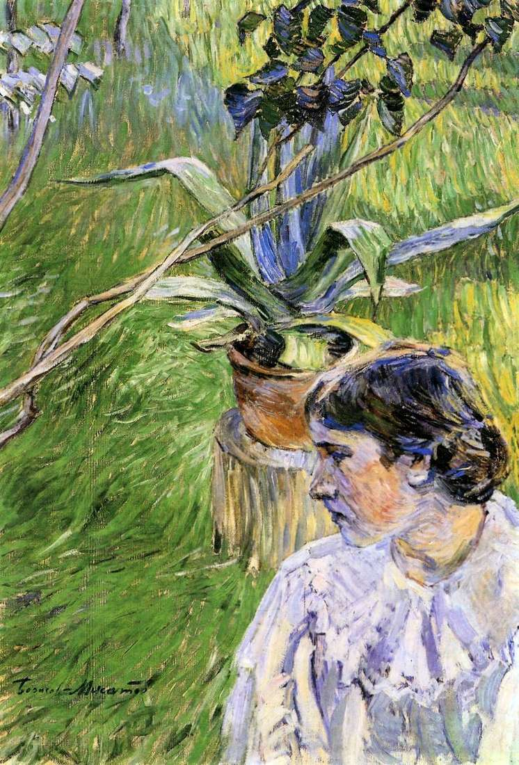 Dziewczyna z agawą   Victor Elpidiforovich Borisov Musatov