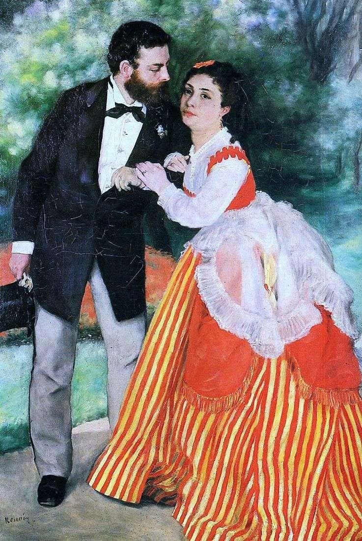 Portret A. Sisleya z żoną   Pierre Auguste Renoir