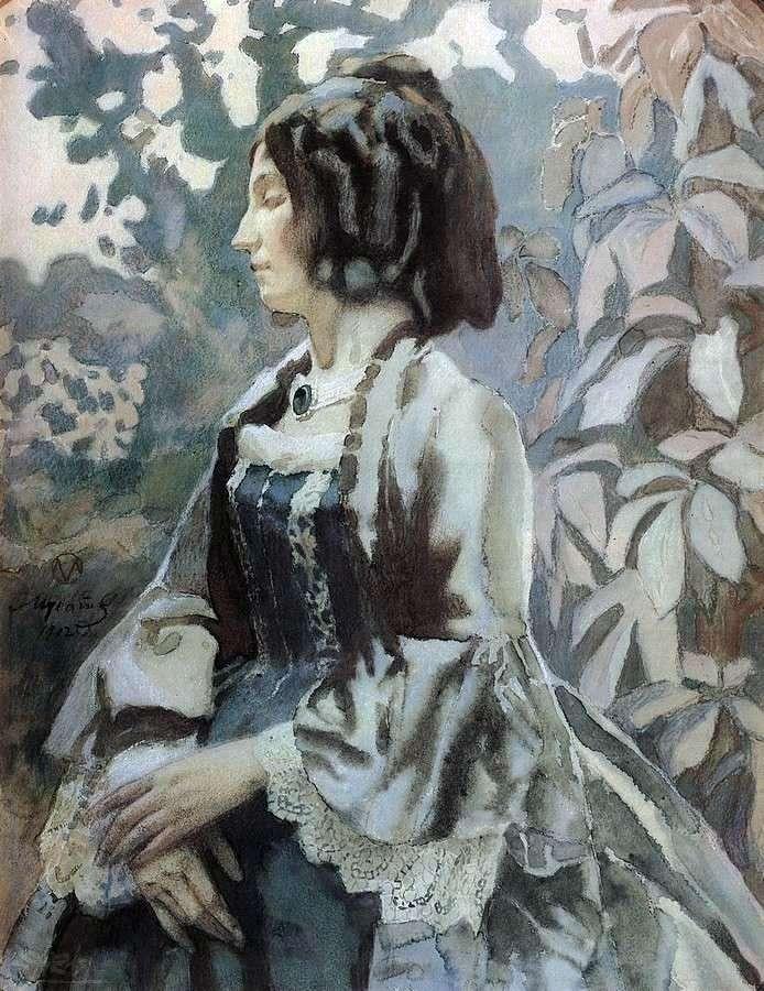 Kobieta w niebieskim   Victor Borisov Musatov