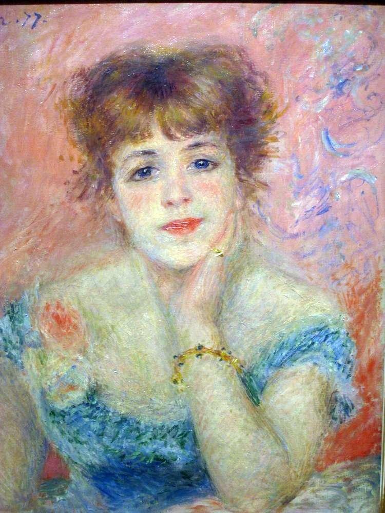 Portret aktorki Jeanne Samary   Pierre Auguste Renoir