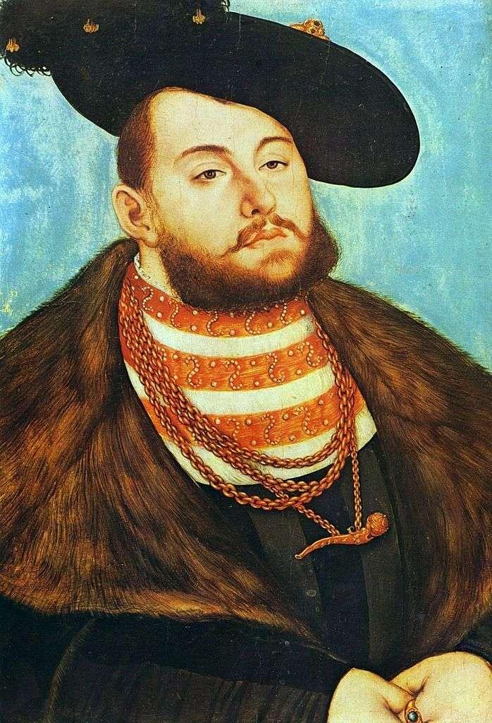 Portret Johanna Friedricha Wielogłoskiego   Lukasa Cranacha