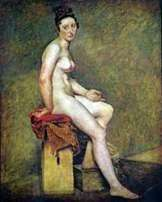 Siedzący model   Eugene Delacroix