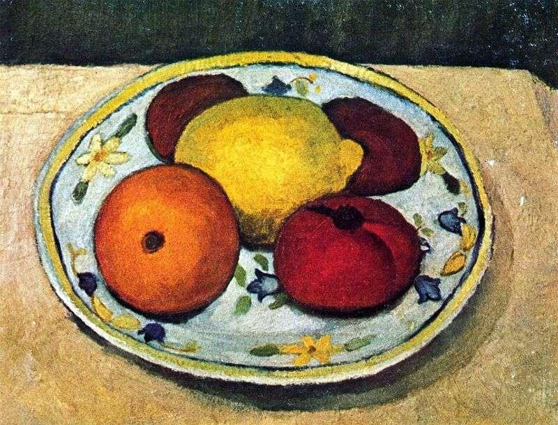 Martwa natura z cytryną, pomarańczą i pomidorem   Paula Modersohn Becker