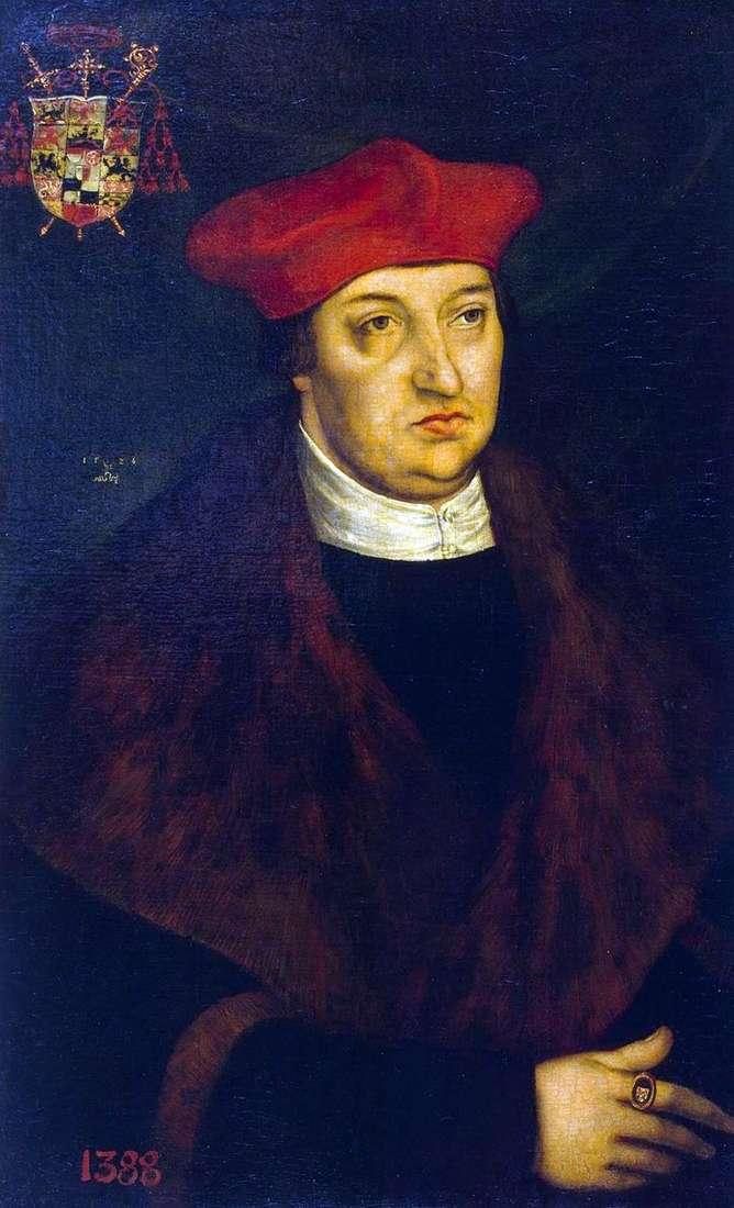 Portret kardynała Albrechta z Brandenburgii   Lucas Cranach