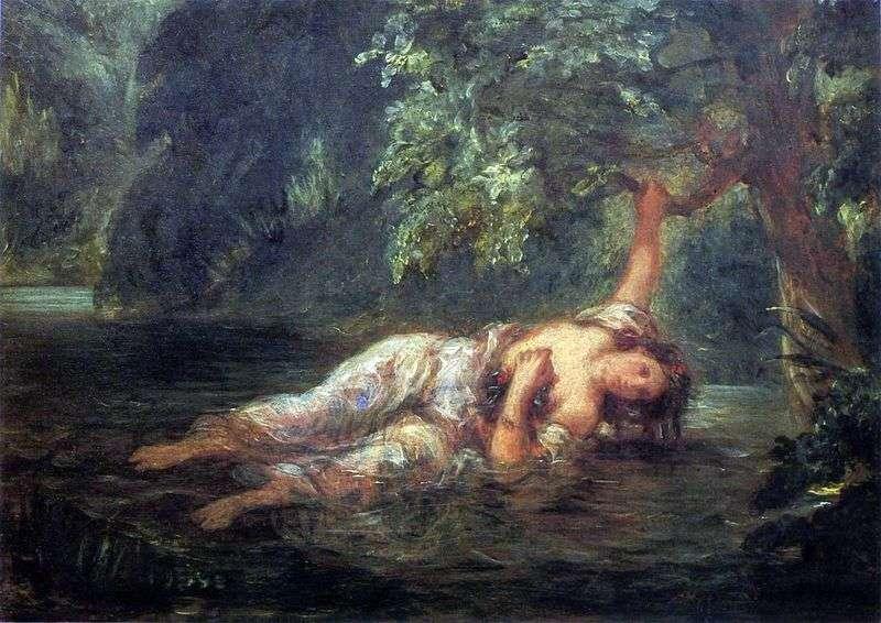 Śmierć Ofelii   Eugene Delacroix