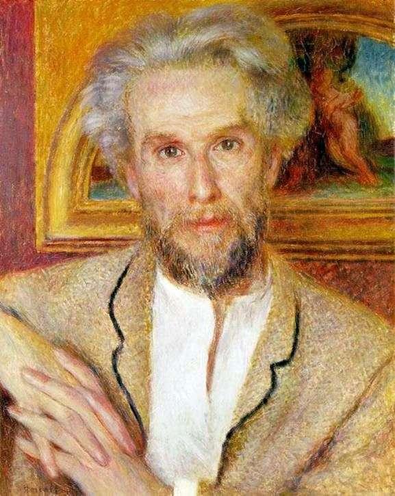 Portret Victora Choqueta   Pierre Auguste Renoir