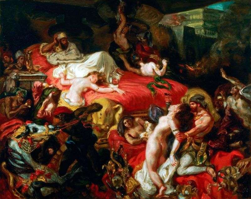 Śmierć Sardanapala   Eugene Delacroix