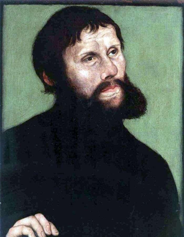 Portret Marcina Lutra w postaci rycerza Jorg   Lukas Cranach