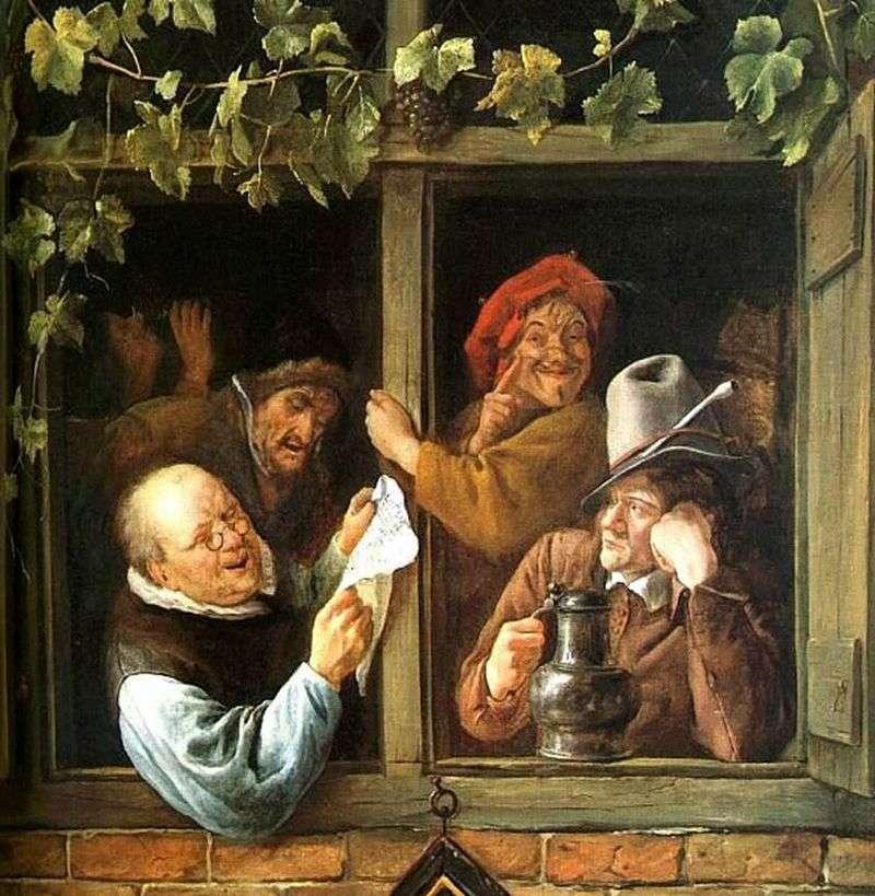 Retoryka w oknie   Jan Steen
