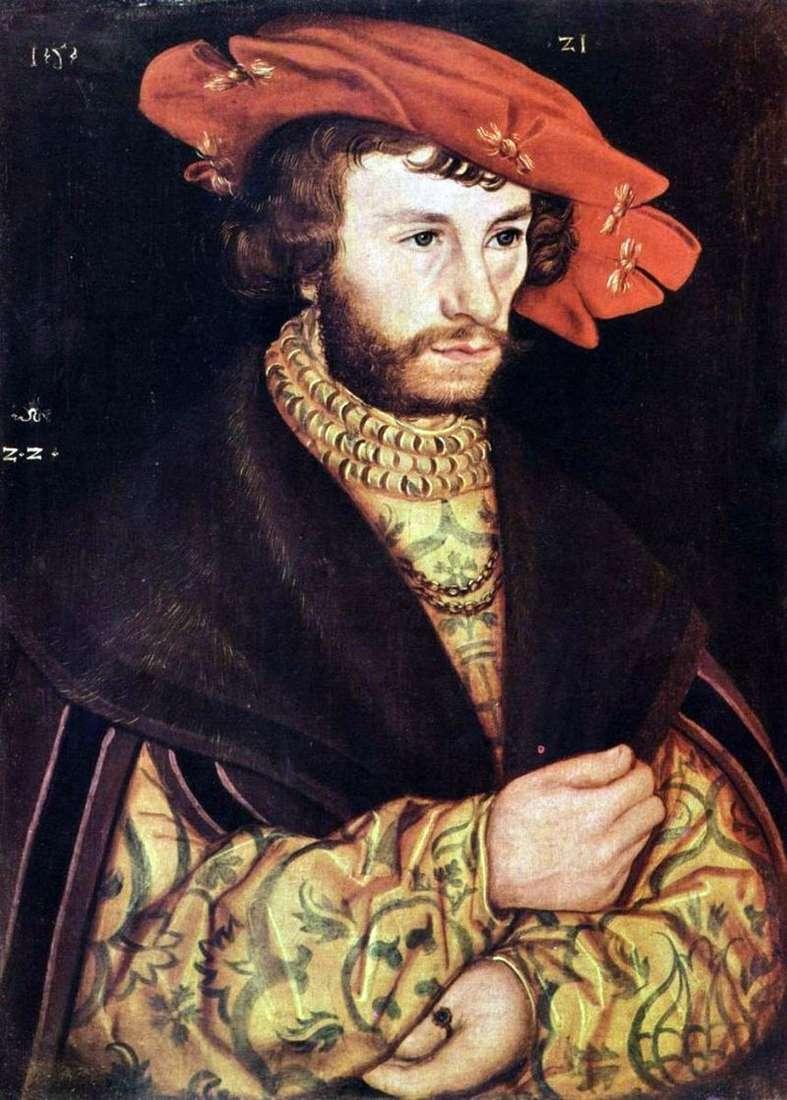 Portret młodego mężczyzny w beretie   Lucas Cranach