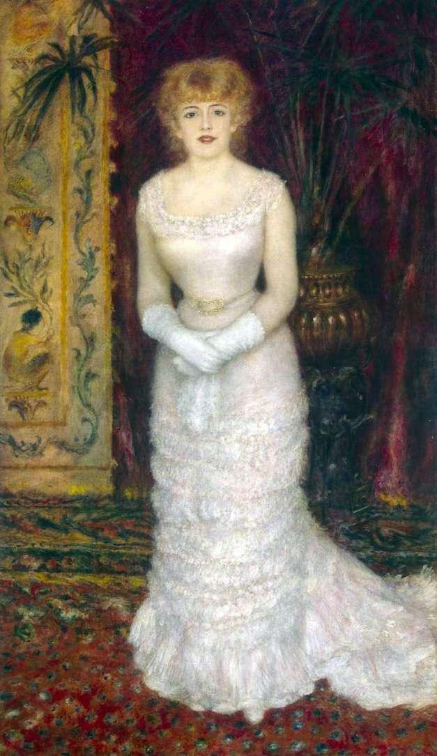 Portret Jeanne Samary przy pełnym wzroście   Pierre Auguste Renoir
