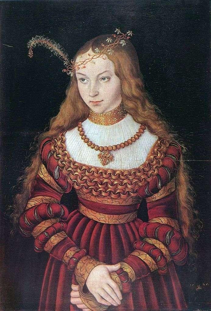 Portret Sibilla Klevskoy   Lukas Cranach