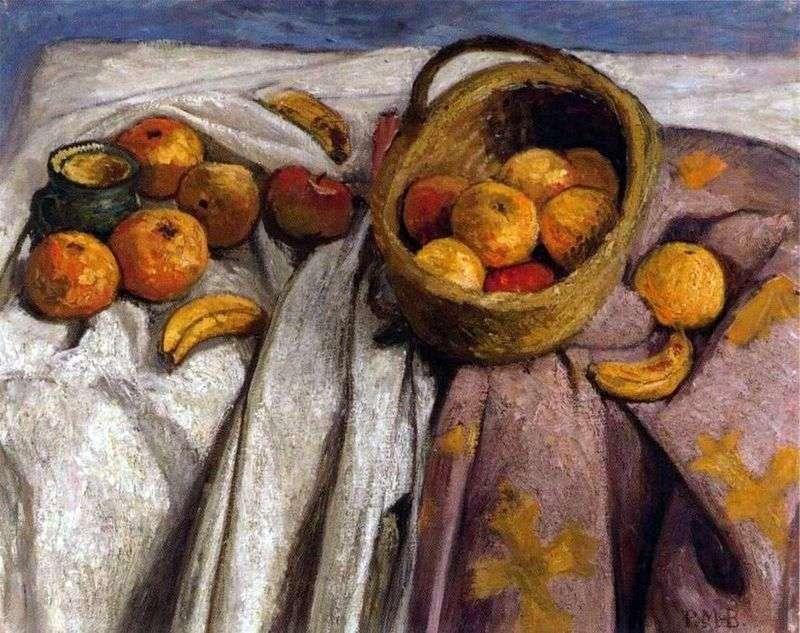 Martwa natura z jabłkami i bananami   Paula Moderzon Becker