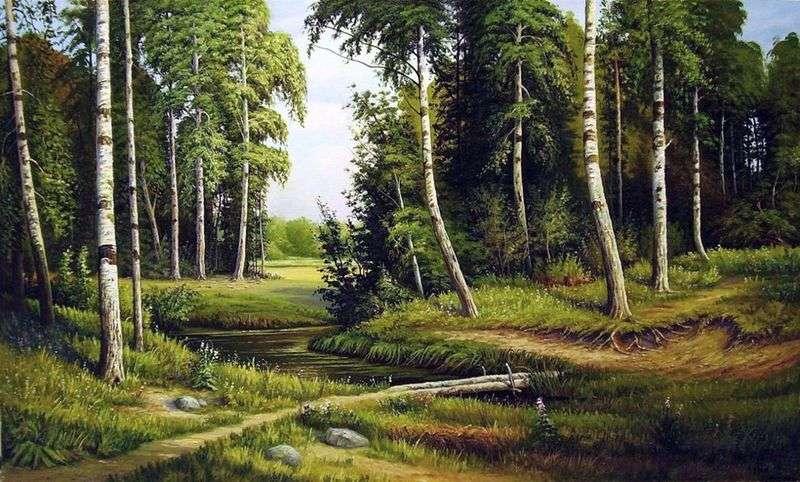 Creek w brzozowym lesie   Iwan Szyszkin
